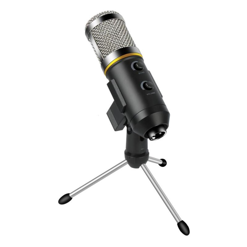 Mini Condenser Microphone w/ USB Tripod Plug and Play Studio USB Condenser Microphone for K Songs Recording Online Chatting KTV best quality yarmee multi functional condenser studio recording microphone xlr mic yr01