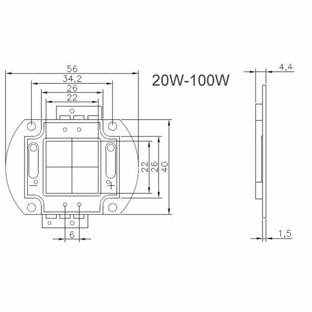 Купить с кэшбэком High Power LED Chip 1W 3W 5W 10W 20W 30W 50W 100W COB SMD LED Bead White RGB Grow Full Spectrum 1 3 5 10 20 30 50 100 W Watt