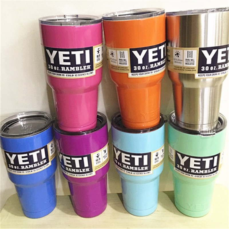 Best Quaitly Original Colorful <font><b>30</b></font> <font><b>oz</b></font> / 20 <font><b>oz</b></font> <font><b>YETI</b></font> <font><b>Tumbler</b></font> <font><b>Rambler</b></font> <font><b>Cups</b></font> Large Capacity Stainless Steel <font><b>Tumbler</b></font> Mugs
