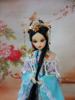 12 32CM Tang Dynasty Princess Dolls Super White Skin 12 Joints Movable Ancient Chinese Dolls Girl