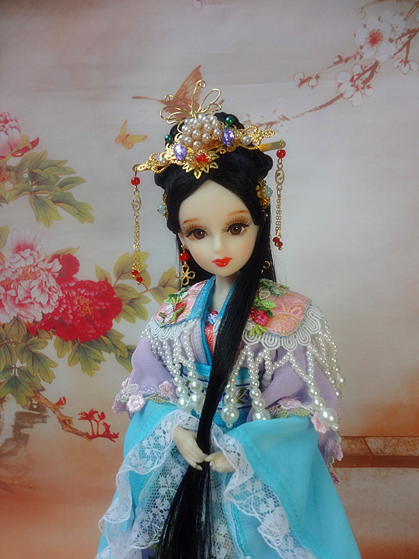 12/32CM Tang Dynasty Princess Dolls / Super White Skin / 12 Joints Movable Ancient Chinese Dolls Girl Toys Birthday Gifts handmade ancient chinese dolls 1 6 bjd jointed doll empress zhao feiyan dolls girl toys birthday gifts