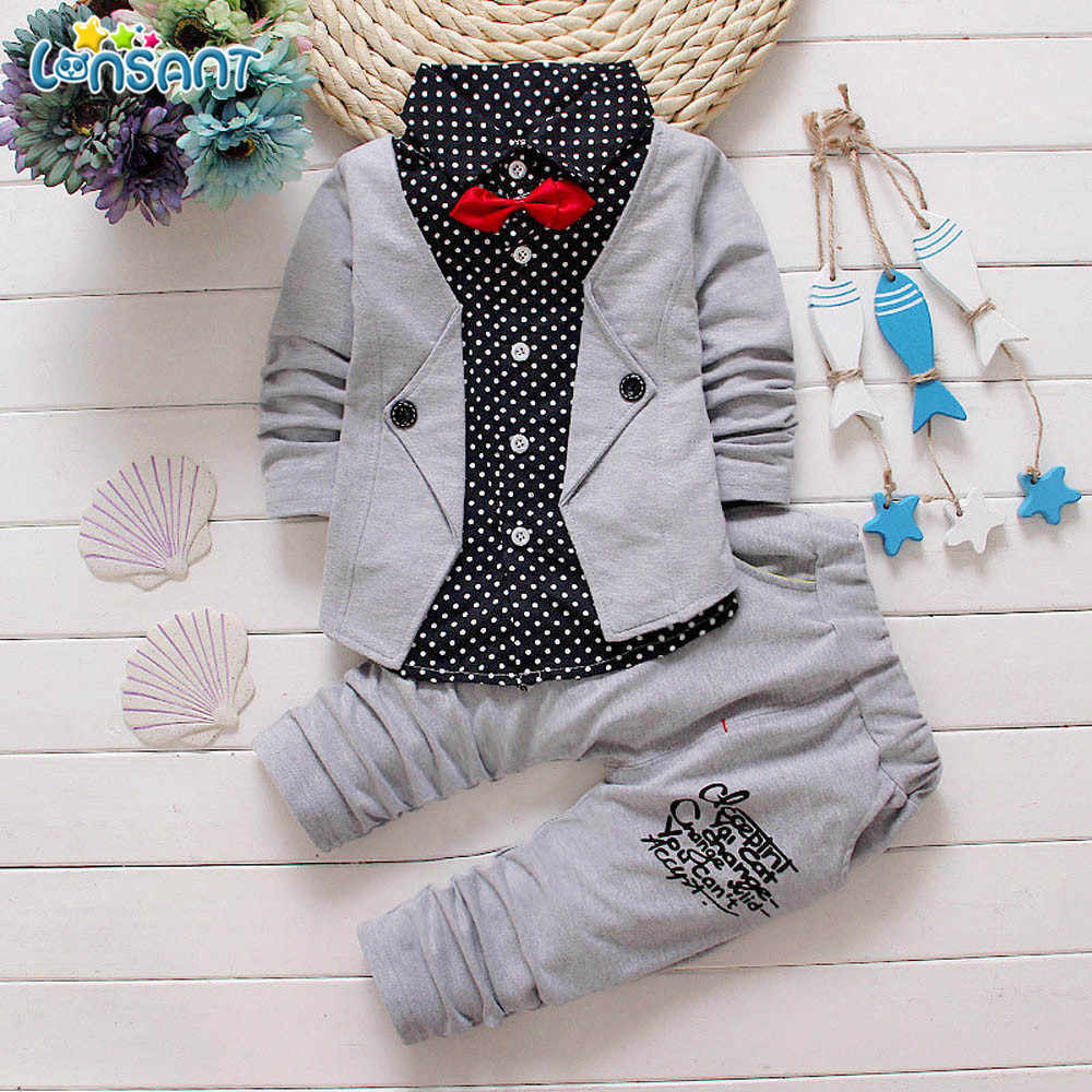 da9aa9f5a71c Detail Feedback Questions about LONSANT Handsome Kid Baby Boy Gentry ...