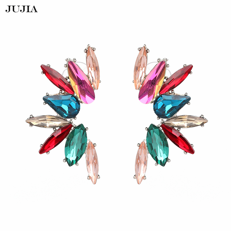 diamond earrings wire and wrapping studs multi multicolored dangled lanae details gems by flower with size
