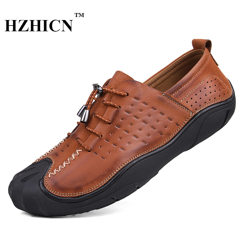 Men's Cow Leather Shoes Retro Style 100% Handmade Casual Oxfords Soft and Comfortable Non-slip Loafers Luxury Chaussure Homme fashion brand genuine leather shoes for women casual mother loafers soft and comfortable oxfords lace up non slip flat moccasins