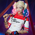 harley quinn costumes 2016 New hot selling fashion Comic printing Letter Mosaic street Hip hop T-shirt suicide squad costume