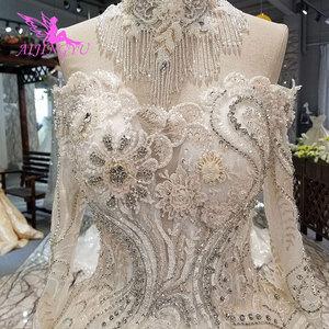 Image 4 - AIJINGYU Wedding Dresses India Slim Gowns female Online Long Train Gown Pearl Dress Floor Length