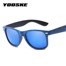 a17966200e5 YOOSKE Classic Imitation Sunglasses Women Brand Designer Retro Vintage Wood  Grain