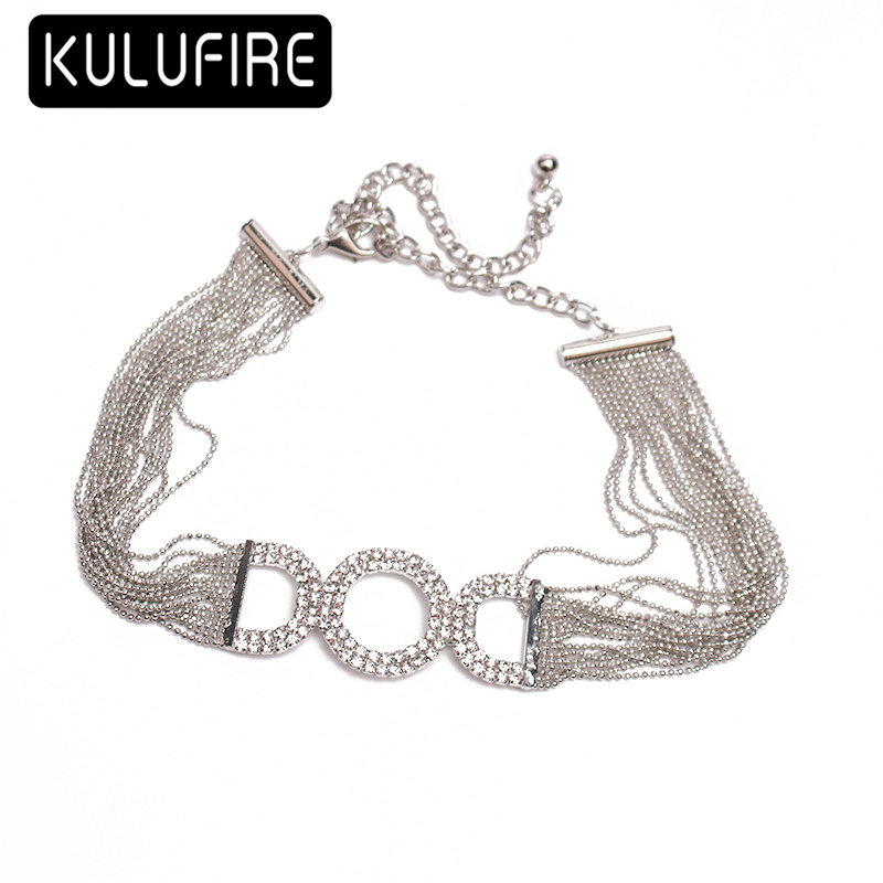 KULUFIRE Choker for Women Necklaces Alloy Chockers Chains Pearl Pendant anime statement kolye vintage collares Jewelry Silver