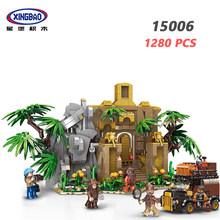 XINGBAO 15006 Forest Adventure Series 1280PCS Ancient City Model Sets Building Blocks Camp Tree My World Village Bricks Jugetes(China)