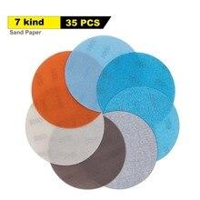 35 шт. 5 дюймовая мягкая пленка, шлифовальный диск, наждачная бумага от 600 до 4000 Грит для влажной/сухой автомобильной краски