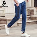 Pioneer Camp brand casual pants men autumn spring knitted elastic trousers male top quality fashion blue pants for men 699057
