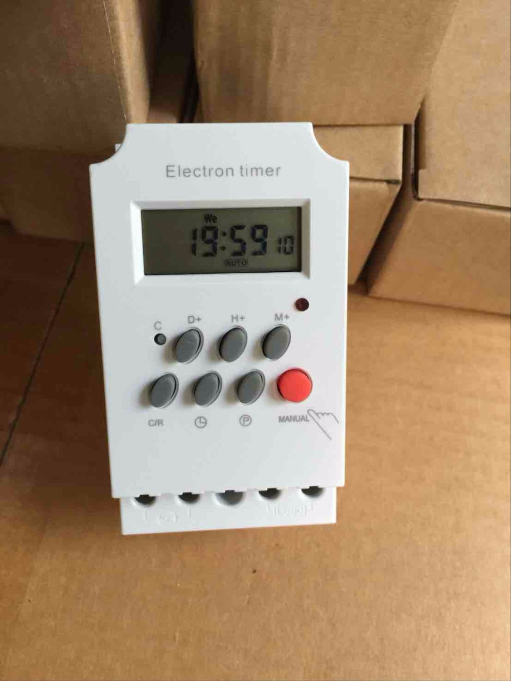 Kg316t-ii 220v 25a Din Rail Lcd Digital Programmable Electronic Timer Switch Digital Timer Controller Counters Tools