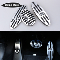 Rest Foot Pedals for mini cooper R55 R56 R60 R61 F55 F54 F56 car styling indoor decoration sticker accessories foot pedals 3pcs