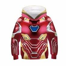 Мстители эндшпиль 4 для мальчиков и девочек; детские толстовки с капюшоном и узором в крутой 3d кофты супер герой пуловеры Топы брендовая куртка; пальто; верхняя одежда