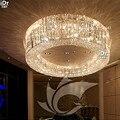 Потолочная лампа  круглая  с кристаллами  для гостиничного проекта  класса люкс  гостиной  лобби  Rmy-0485