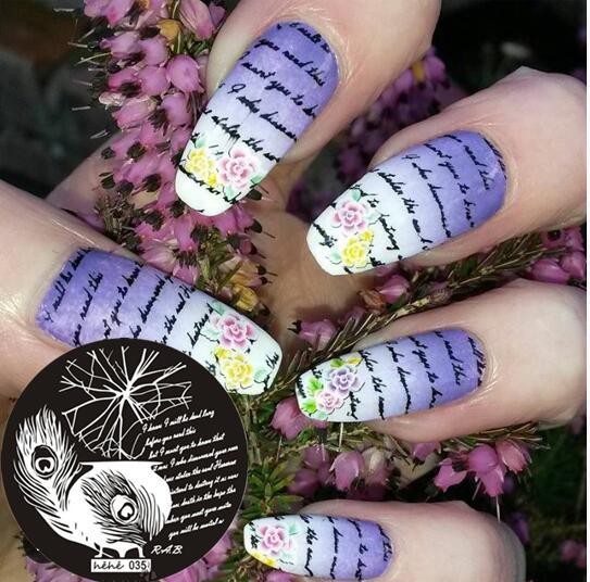 Nail Art Stamping Template Placa Carta Pena Nail Art Stamp Template Imagem Placa hehe035