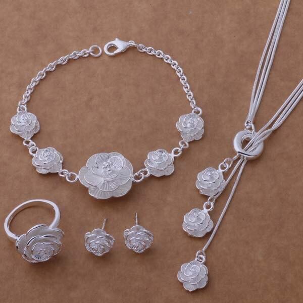 Halskette 497 Freundschaftlich As262 Heißer 925 Sterling Silber Schmuck Sets Armband 030 Ohrring 283 Ring 206/akkajbra Aqxajiea Stabile Konstruktion