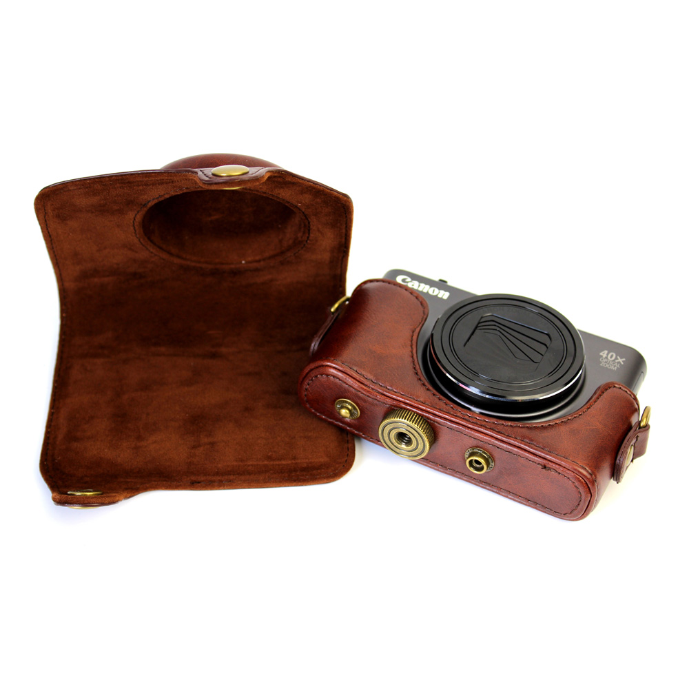 Nice PU Leather Camera Case Cover Bag For Canon PowerShot SX720 HS SX720HS SX720 With Shoulder Strap Camera Bag With 4 Colors
