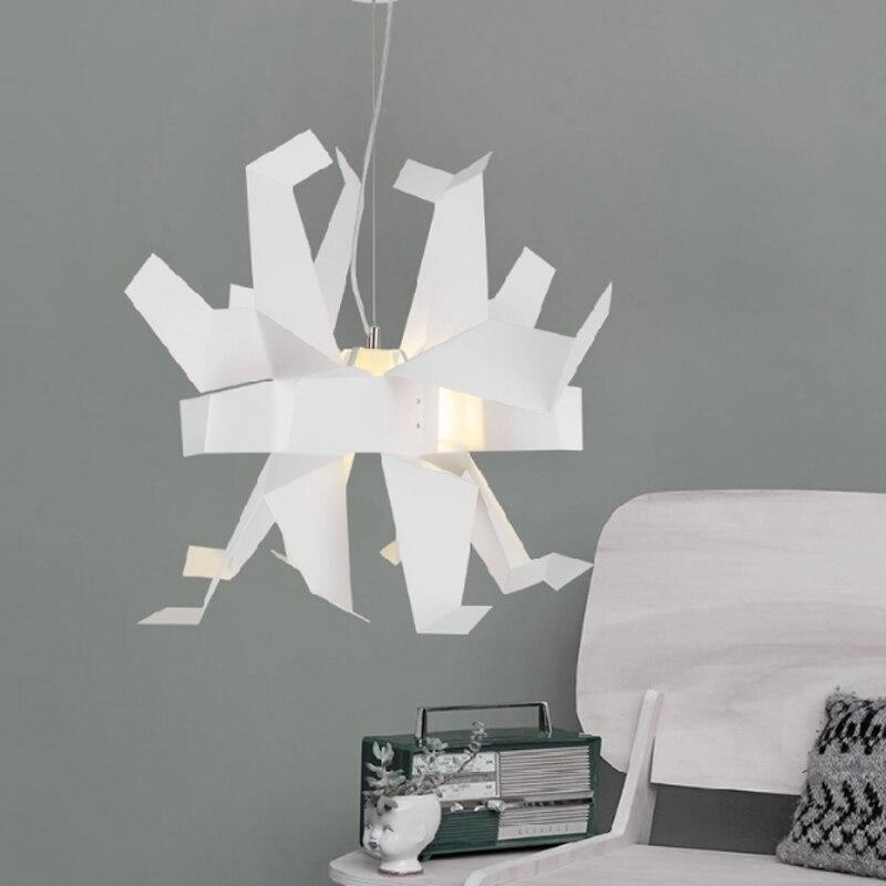 Moderne créatif en forme de conception suspension lampe blanche mille papier grue origami chambre décoration E27 lampe d'éclairage - 3