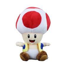 1c3de2e991d178 17 cm Super Mario Bros Toad Pluche Gevulde Poppen Rode Paddestoel man  Knuffels Pluche Speelgoed Kinderen Speelgoed gratis verzen.
