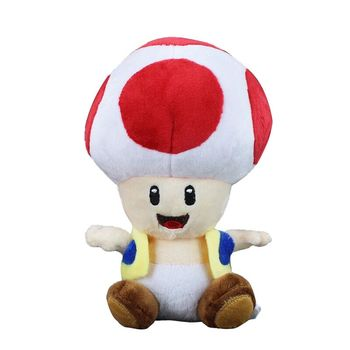 Super Mario Bros Plush Toy Red Mushroom