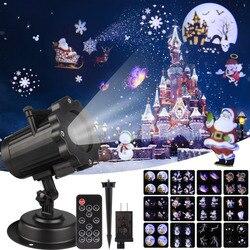 Projektor laserowy na Boże Narodzenie efekt animacji IP65 kina domowego projektory 12 wzory płatek śniegu/Snowman światło laserowe DA|Oświetlenie wakacyjne|   -