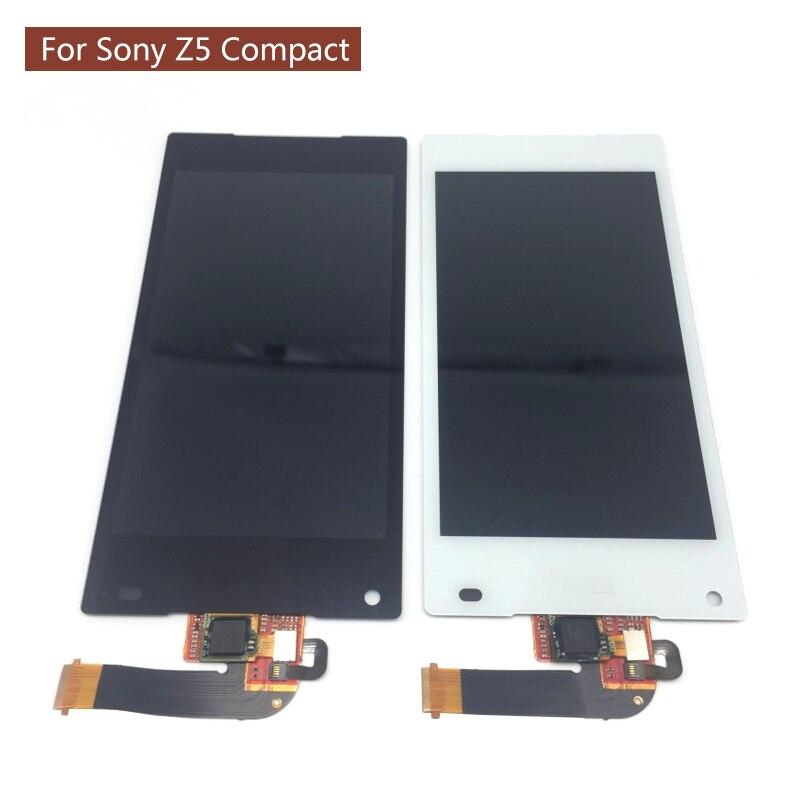 Pour Sony Z5 Compact LCD avec écran tactile numériseur E5823 E5803 Z5 mini lcd 100% testé travailler avec autocollant avant et arrière