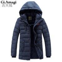新しい2016秋冬ジャケット男性高品質取り外し可能な帽子コットン男性服outwearing暖かいジャケットコート黒プラスサイズ3xl