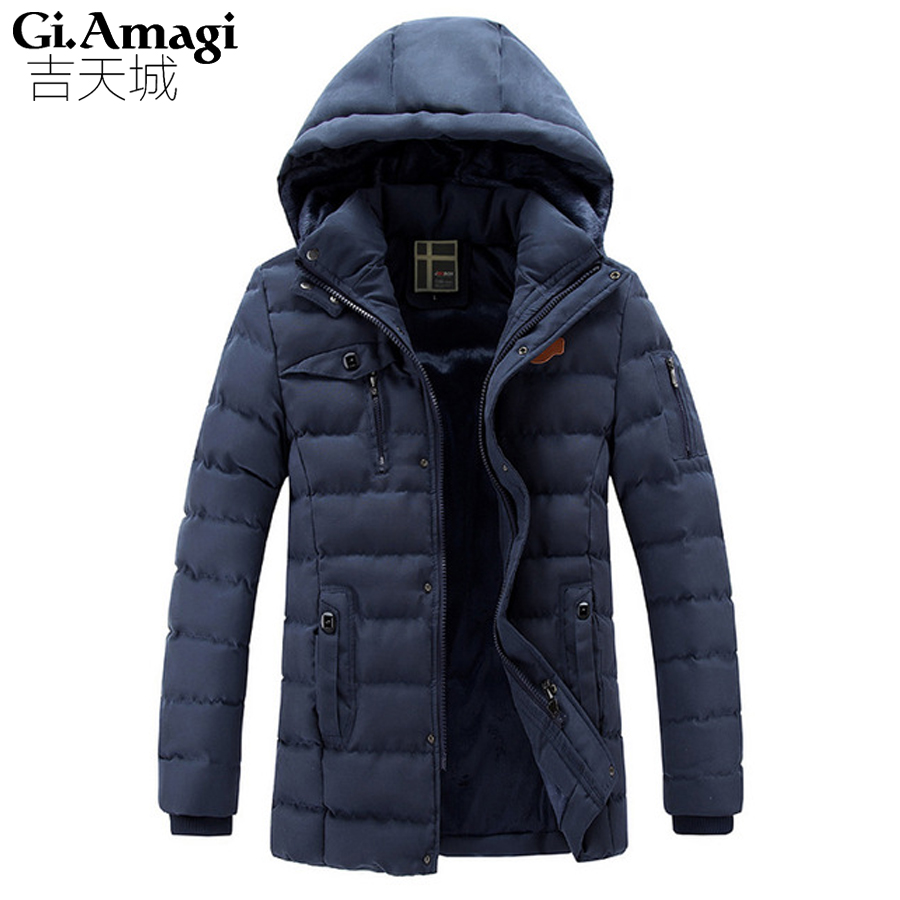 New 2016 Autumn Winter Jacket Men High Quality Removable hat Cotton Men Clothes Outwearing Warm Jacket Coats Black Plus Size 3XL