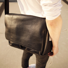 LAN  original Men's leather messenger bag cross body bag new design shoulder bags Leather bag Leisure handbag