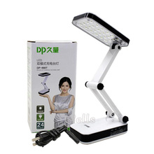 led Table Lamp DP Solar battery rechargeable foldable and Adjustable Desk Lamps With 24 LED Reading Charge lamp AC220V