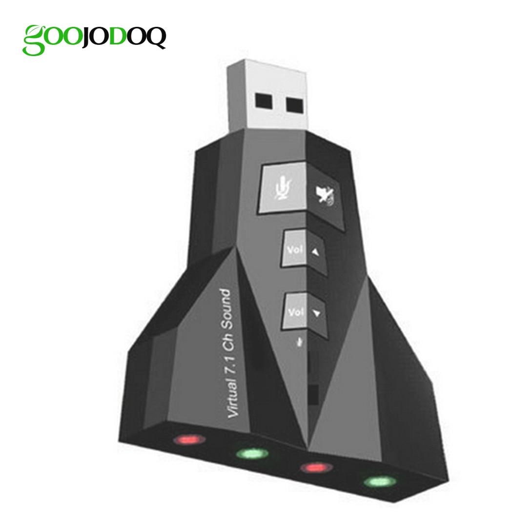 Virtual 7.1 USB Sound Card External USB Audio Double Adaprter USB To Jack 3.5mm Earphone Micphone For Computer Notebook Win Mac