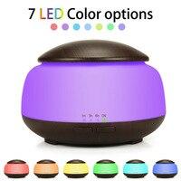 300 ml Ultraschall-luftbefeuchter Aroma Ätherisches Öl Diffusor mit Holzmaserung 7 Farbwechsel Led-leuchten für Office Home