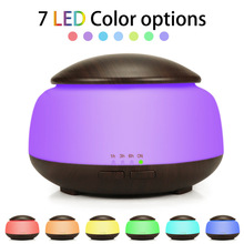 300ml Ultrasonic Air Humidifier Aroma Essential Oil Diffuser with Wood Grain 7 Color Changing LED Lights for Office Home все цены