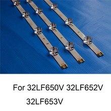 Nova marca tira de luz de fundo led para lg 32lf652v 32lf653v 32lf650v reparação tv led backlight tiras bares a b tipo 6 lâmpadas originais