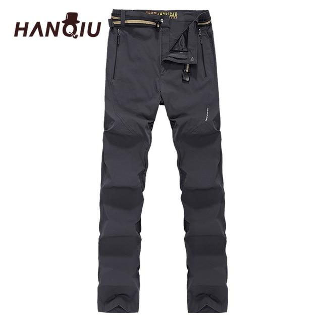 Traspirante Uomo Softshell Termici Dry Quick Hanqiu Pantaloni Da pABYxRq