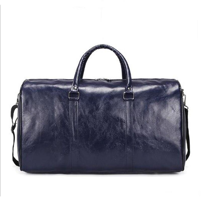 Wobag 2019 Fashion Men Women Travel Duffel Bag New Pu Travel Bag Large Capacity Waterproof Short-distance Luggage Bag Sports Bag
