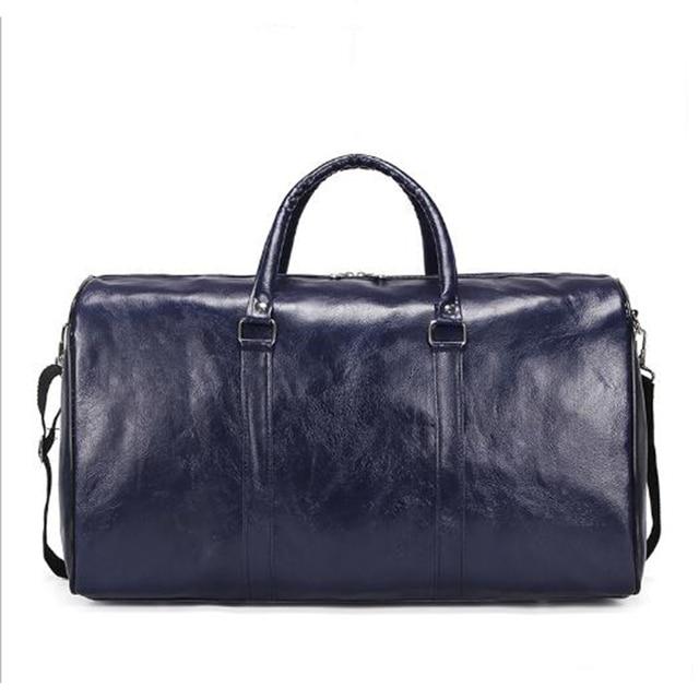 Wobag moda 2018 bolsos de hombre y mujer nueva bolsa de viaje de Pu de gran capacidad impermeable de corta distancia bolsa de equipaje de deporte bolsa de gimnasio