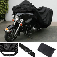XXXL Waterproof Motorcycle Cover Black For Fit Harley Davidson Electra Glide Ultra Classic FLHTCU Street Glide Road King Touring