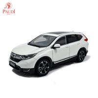 Paudi Model 1:18 1/18 Scale Honda CR V CRV 2017 SUV White Diecast Model Car Toy Model Car Doors Open