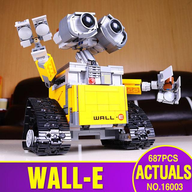 Lepin 16003 687 unids Idea Robot WALL E Kits Set Ladrillos Bloques de Construcción Educativa Bringuedos Compatitable Juguetes 21303