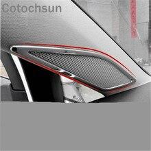 Cotochsun автостайлинг из нержавеющей стали Колонка клеящаяся рамка для декорации чехол для Volkswagen Golf 7 MK 7 авто аксессуары