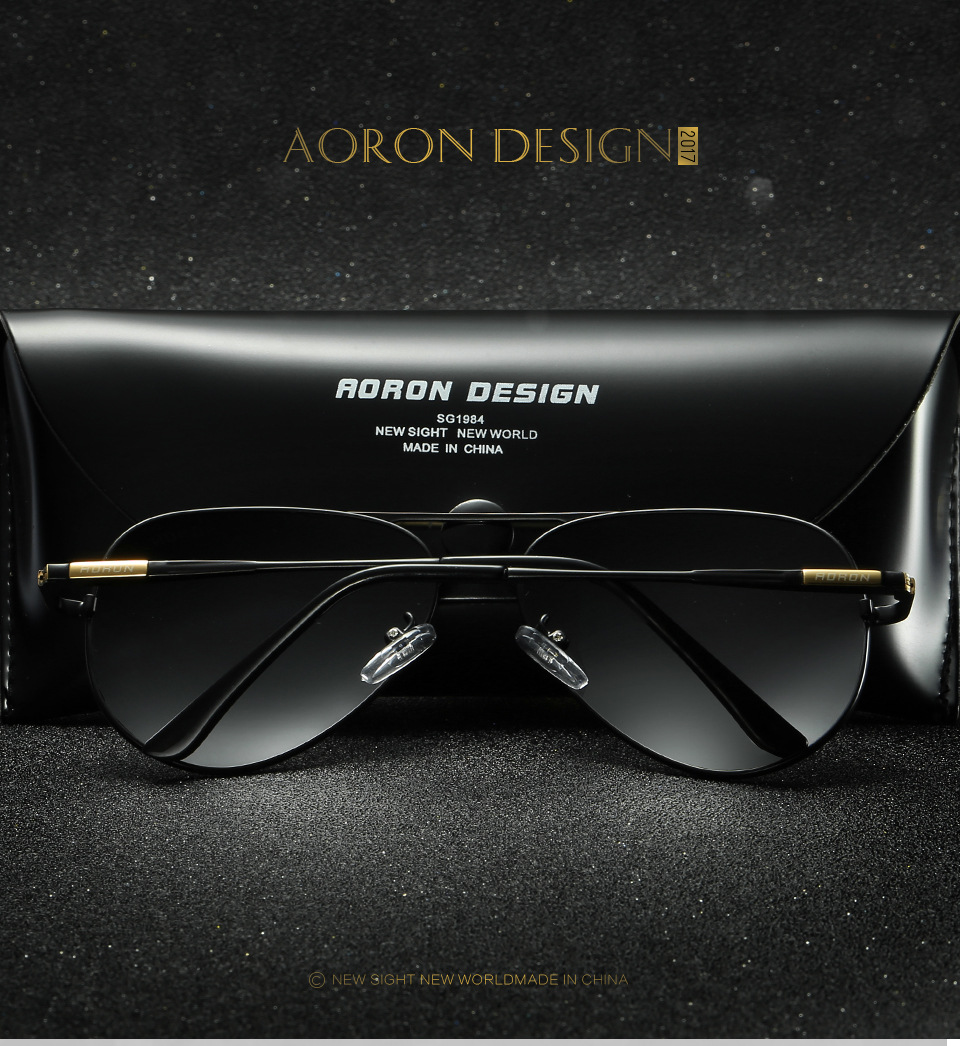 acf6581097 AORON Men Brand Designer Retro Polarized Sunglasses UV400 Coating Mirror  Glasses Sports Driving Eyewear Unisex-in Sunglasses from Apparel  Accessories on ...