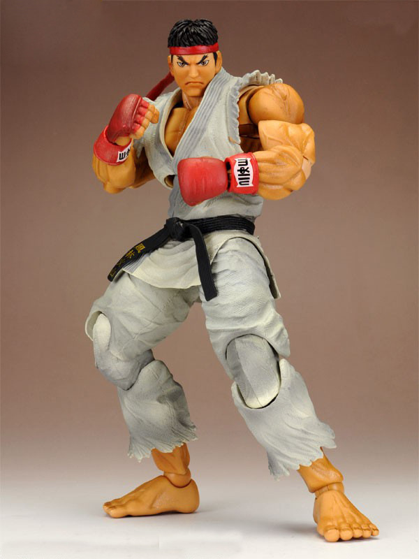 Street Fighter Action Figure Play Arts Kai RYU 230MM Shouryuukenn Anime Game Street Fighter Playarts Model Toy super street fighter iv akuma gouki white variant play arts kai action figure