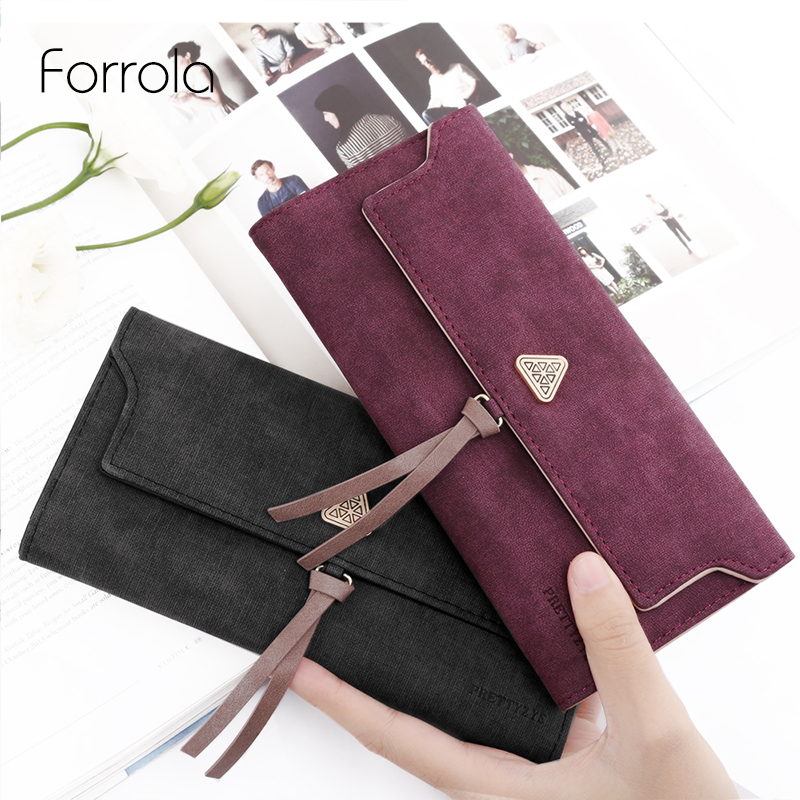 цена Fashion Women Wallet Leather Long Female Wallets Foldable Change Credit Card Holders Lady Phone Coin Purses For Girls Carteira