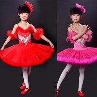 Kids Professional Swan Lake Tutu Skirt Children Ballet Tutu Dress Multicolor Ballet Costumes Kids Girl Ballet