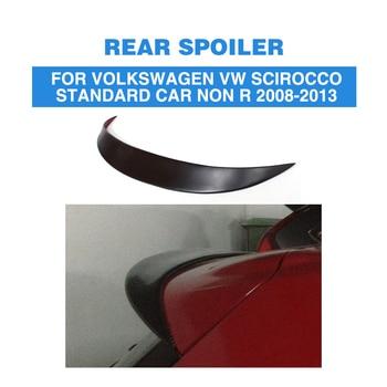 Rear Roof Spoiler Window Wing for Volkswagen VW Scirocco Standard Bumper Non R 2008 - 2013 FRP Unpainted Black Primer
