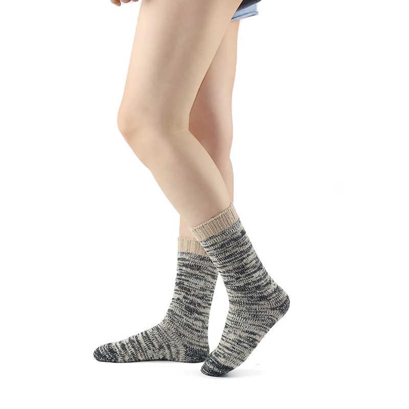 Merino ขนสัตว์ผู้หญิงถุงเท้าร้านขายชุดชั้นใน Upscale ยี่ห้อถักฤดูใบไม้ร่วงฤดูหนาว Warm การบีบอัด Coolmax หนาสุภาพสตรีข้อเท้า Boot ถุงเท้า