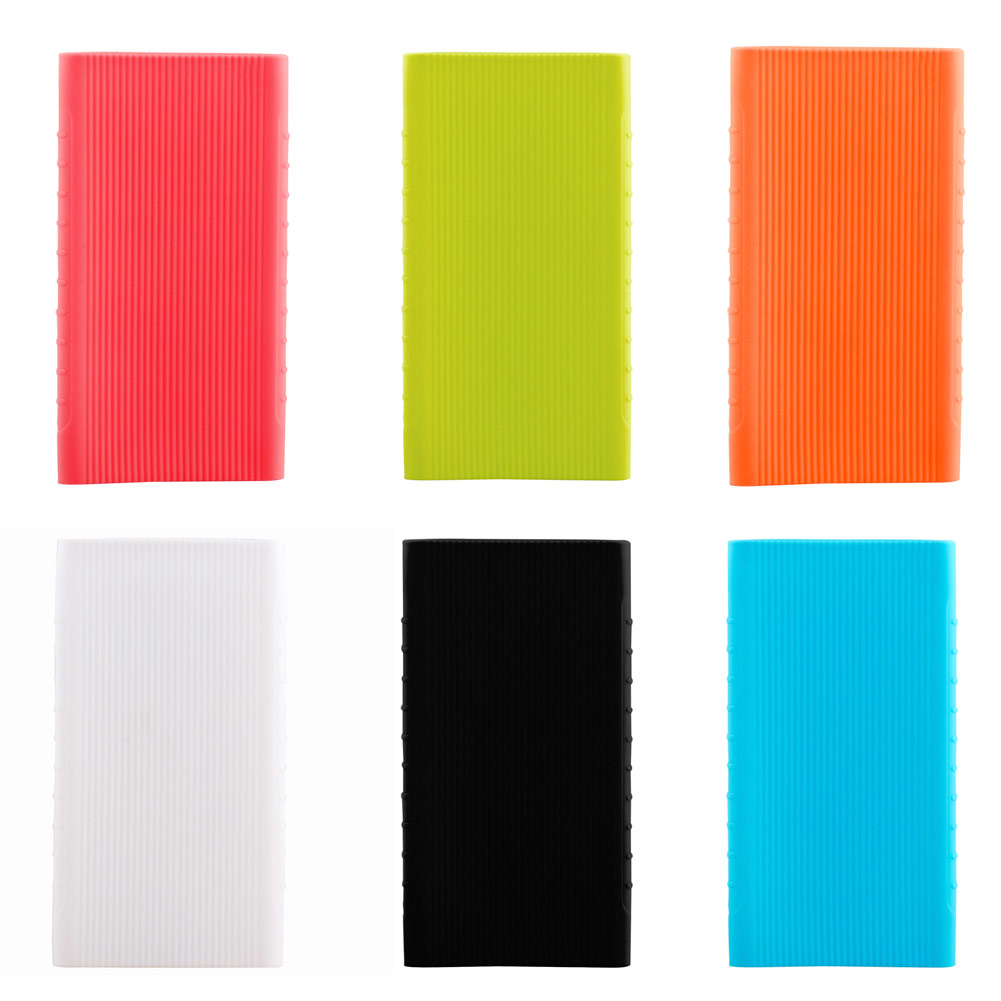 New Powerbank Case For 5000 mAh Mi Power Bank Silicon Case Rubber Cover for Portable External Battery Pack