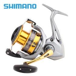 Original Shimano SEDONA FI 1000 C2000HGS 2500HG C3000HG 4000XG C5000XG carrete de pesca giratorio Copa profunda 4BB Hagane engranaje Saltewater